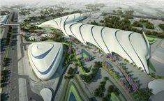 Комплекс «Каир Экспо-Сити». Проект 01/2011 © Zaha Hadid Architects