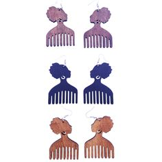 Afro pick earrings Do you love Afro pick earrings? If you do, you will love these Afro pic earrings. They come in 3 different color options (black, brown and natural). Natural Hair Accessories, Jewelry Accessories, African Accessories, I Love Jewelry, Hair Jewelry, Afro Hair Pick, Medium Hair Styles, Natural Hair Styles, Afro Comb