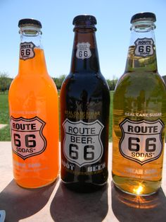 Route 66 soda bottles