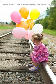 fun photo idea for Rylan on an abandoned track of course