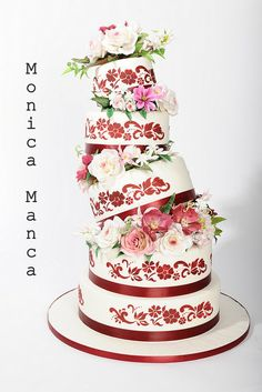 Wedding Cake - by Monica @ CakesDecor.com - cake decorating website