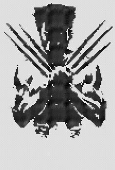 PATTERN: Wolverine Cross Stitch on Etsy, $4.50 CAD