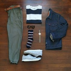 Mid 60s weekend casual. Joggers x Urban Outfitters T-Shirt x Old Navy Selvedge Jacket x Levi Shaffer Sneakers x @ransomholdingco Sunglasses x Persol Eyewear Watch x Raketa Vintage #menswear #mensstyle #mensfashion #fashion #style #stylish #instastyle #instafashion #instadaily #daily #wiw #wiwt #whatiwore #whatiworetoday #outfit #todaysoutfit #ootd #outfitoftheday #look #lookbook #dailylook #denim #sneakers #accessories #watch #streetstyle #gqstylehunt #dailypic #outfitgrid #gq Outfit Grids @outfitrep...