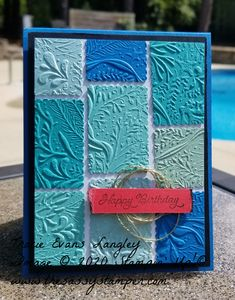 Washi Tape Cards, Folded Cards, Stampin Up Anleitung, 21 Cards, Nautical Cards, Embossed Cards, Stamping Up Cards, Happy Birthday Cards, Embossing Folder