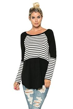39d38ca394b7b4 Shopglamla Long Sleeves Round Neck Tunic Raglan Top. S-3XL. Multiple colors  and