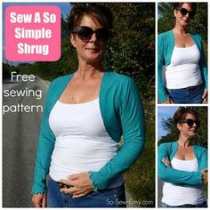 So Simple Shrug - Free Sewing Pattern