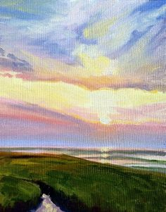 """""""Cape Sunset I"""" by Takeyce Walter 10x8"""" oil on paper - available framed. info@takeyceart.com for purchase info."""