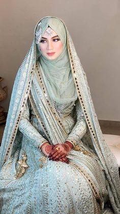 Muslimah Wedding Dress, Muslim Wedding Dresses, Pakistani Wedding Outfits, Pakistani Bridal Dresses, Pakistani Dress Design, Wedding Dresses For Kids, Stylish Dresses For Girls, Bridal Hijab Styles, Beautiful Pakistani Dresses