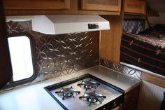 camper kitchen | RV.Net Open Roads Forum: Truck Campers: Camper remodel  BACKSPLASH