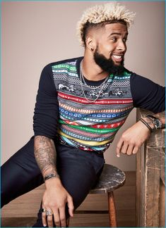 Odell Beckham Jr. charms in Hermès for his GQ photo shoot.