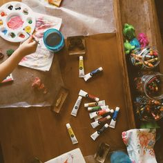 art supplies!  Living With Kids: Casey Wiegand