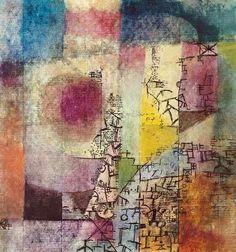 Paul Klee - Komposition, 1914 klee art If a man treats a life artistically, his brain is his heart. Paul Klee Art, Illustration Art, Illustrations, Color Theory, Oeuvre D'art, Picasso, Monet, Wassily Kandinsky, Modern Art