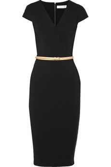 Victoria Beckham Draped stretch-jersey dress | NET-A-PORTER