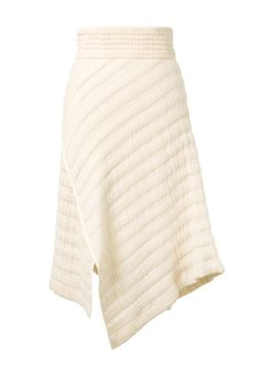ISABEL MARANT Isabel Marant Galeo Asymmetric Ecru Quilted Cotton Skirt. #isabelmarant #cloth #