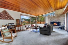 Lovely mid-century ranch living room. @ 5417 S Orcas St  Seattle, WA 98118