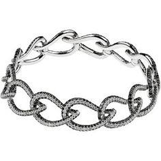 Black and White Diamond Bracelet. To find a jeweler near you, visit http://www.stuller.com/locateajeweler/