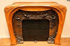 French Art Nouveau fireplace (1902-3) by Hector Guimard at Toledo Museum of Art. Toledo, OH.