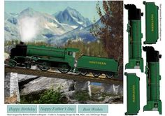Scenic Mountain Train Topper with Decoupage on Craftsuprint - Add To Basket!