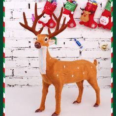 Christmas Deer Simulation Reindeer Ornaments Room Decoration Party Supply #other