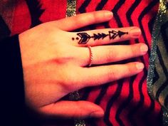 Finger henna tattoo
