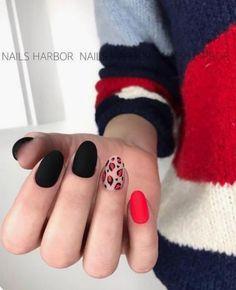 44 Stylish Oval Matte Nail Art Designs 10 Simple Fourth Of July Nails To Keep You Minimalist Matte Nail Art, Shellac Nail Art, Cute Acrylic Nails, Nail Art Designs, Nails Design, Hair And Nails, My Nails, Oval Nails, Minimalist Nails