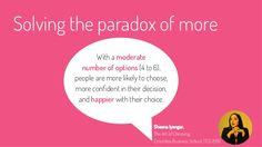 4 o 5 opzioni rendono le decisioni più semplici e soddisfacenti