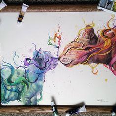 Artista de 17 anos cria ilustrações lindas em aquarela
