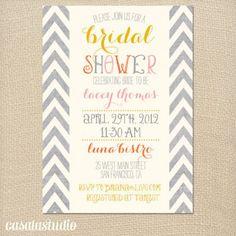 Summer bridal shower invites