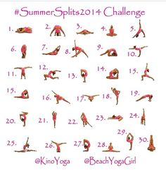 "Anyone up for another challenge? Join me! :) This one will greatly help with flexibility and any mental blocks you may have. I know I can't do a few as pictured but will sure give it my best!! Remember... It doesn't matter how ""well"" you do the pose, it's who you are when you're there. No judgements. No comparisons. #explore #summersplits2014 @Kino MacGregor @Kerri V Starts June 1 ☀️ #beinspired #beflexible"