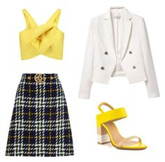 """Daffodil dreams"" by laurzies on Polyvore featuring Gucci, Delpozo, MANGO and ALDO"