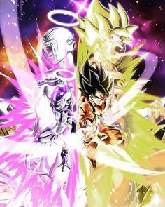 LR Goku and Frieza Super Saiyan Dragon Ball Z Dokkan Battle Wallpaper Dragon Ball Z, Dragon Ball Image, Goku Y Freezer, Foto Do Goku, Goku Vs Jiren, Dbz Vegeta, Dbz Wallpapers, Super Anime, Animation