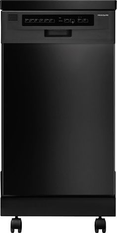 "Frigidaire - 18"" Portable Dishwasher - Black - Larger Front"