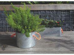 HOLT SILVER Metal Galvanised metal window box planter W18 x L48cm - HabitatUK
