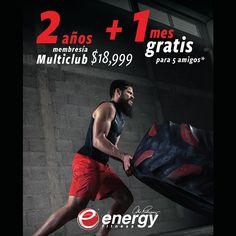 Energy Fitness (membresía multiclub y mantenimiento sin costo por 2 años) para 1 persona | Costco Mexico