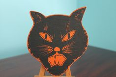 "4 1/2"" Halloween Cat Face Cut Out 