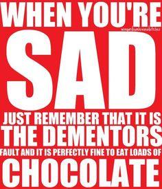 It's ok to eat chocolate