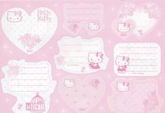 Cute Stationery, Front and back cut out shapes.♥