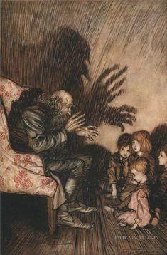 Arthur Rackham-Rip Van Winkle