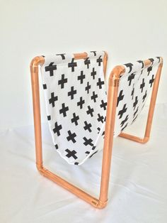 Zeitungsständer, Industrieller Look // magazine rack, holder, industrial design by Just lovely via DaWanda.com