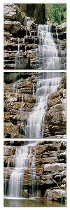 """Beautiful waterfall scenery from national park in Japan. Hawaii. All natural colors will make it fit any wall in the house or office. Available size; 60"""" x 20"""" * Our photographic art works printed in"""