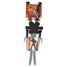 Halloween Dragon Ninja Weapon Set Silver, Kids Unisex