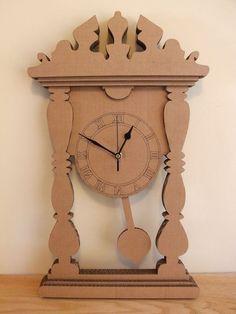 Cardboard Mantle Clock by OhBotherDesign on Etsy, £22.00
