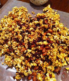 Cranberry-Orange Caramel Popcorn