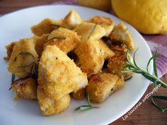 Bocconcini di pollo al limone e rosmarino
