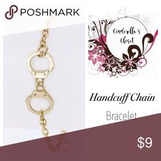 Handcuff Chain Bracelet Accessorize your outfit with this adorable gold-tone Handcuff Chain Bracelet.  ▪️ Width 0.5 ▪️ Lead & Nickel Compliant ▪️ Length 7+ extension Jewelry Bracelets