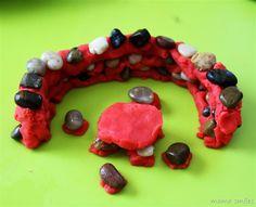 Creative Sensory Play: Building with Play Dough and Rocks - Mama Smiles