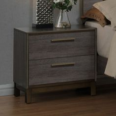Features:  -Bar pull drawer handles.  -Center metal gliders for easy drawer access.  Frame Material: -Wood.  Top Material: -Wood.  Finish: -Antique Gray.  Top Finish: -Gray.  Style (Old): -Contemporar
