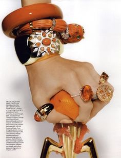 Vogue British Editorial Orange Bounty <3