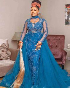 50 Latest Aso Ebi Styles For 2020 (Updated Weekly) African Print Dresses, African Fashion Dresses, African Dress, Ankara Fashion, Cheap Evening Dresses, Elegant Dresses, Nice Dresses, Traditional Wedding Attire, Traditional Dresses