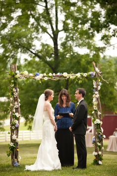 Virginia Rustic Wedding At The Inn At Westwood Farms - Rustic Wedding Chic - great trellis